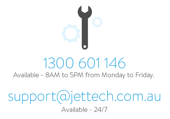 Jettech Networks Support Number 1300 614 146 8am to 5pm, Monday to Friday.